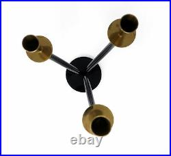 Brass and Black Lucite Candle Holder