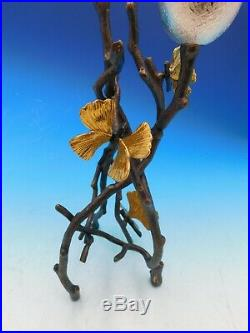 Butterfly Ginkgo by Michael Aram Brass and Nickelplate Candleholder Set New