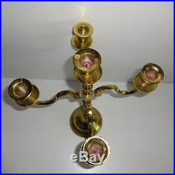 Candle Holders Brass for 5 Candles Approx. 15 11/16in High