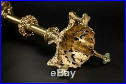 Candlestick Bronze French Brass Candle Holder Gothic Gilded Bronze Gilt 22