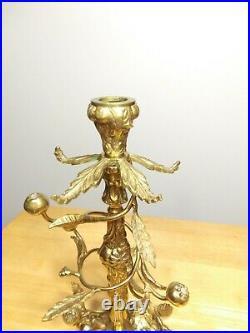 Candlestick Candle Holder Candelabra Vintage Decorative Antique Brass