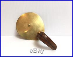 Carl Aubock Rare Brass Leather Candle Holder Signed
