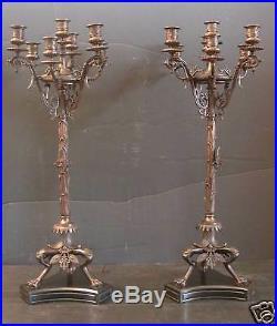 Cast Bronze American Renaissance Candelabras (15708)