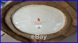 Castilian Imports Brass & Porcelain Heavy Bowl, Pre-Owned, Christmas, Holly