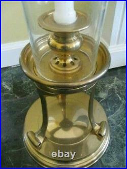 Chapman Seeded Glass Brass Hurricane Candle Holder RARE Circa 1995