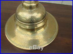 Col Ms Pair Brass Floor Candlestick Candle Holders 40 Tall