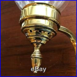 Colonial Williamsburg Virginia Metalcrafters Bruton 2 Arm Brass Hurricane Sconce