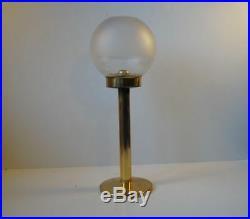 Danish Modern Carl Cohr Table Candle Holder brass glass Hans Agne Jakobsson era