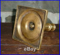 EARLY ANTIQUE 17th CENTURY BRASS CANDLESTICK LIGHTING CANDLE HOLDER NR