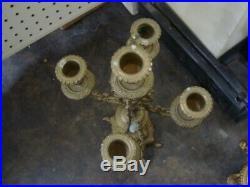 Elegant Vintage Brass 5 Light Candelabra, 24 Tall