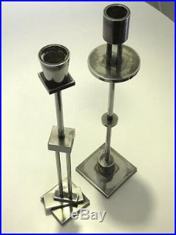 Ettore Sottsass for Swid Powell Silver Plated/Brass Candlesticks