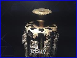 Exquisite Brass Vintage Candlesticks on Marble. With crystals