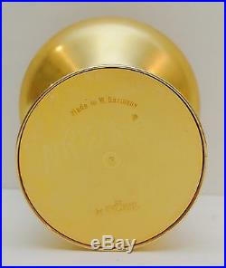 Föhl W Germany Brass Glass Candlestick Holder Space Age Mid Century Modern Fohl