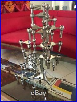 Fritz Nagel Stackable Candleholders BMF C. Stoffi W. Germany 24 piece