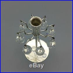 H. H. Rath for J&L Lobmeyr c. 1963 Silvered Brass and Faceted Swarovski Crystal