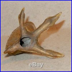 HTF Vintage BRASS Eagle TALON Chicken Leg Foot Claw Candlestick Bird RARE
