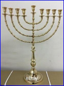 Hanukkah Jewish Chanukah Menorah Israel Vintage Brass Chanukah Candle Holder