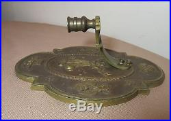 High quality antique heavy cast brass wall candle holder sconce fixture bronze