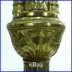 Holland Brass Works St. Mary's Equipment Circ 1940 Bakelite Floor Candle Holders