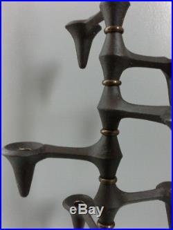 IHQ Jens Quistgaard Denmark Dansk Design candle holder Kerzenleuchter brass rare