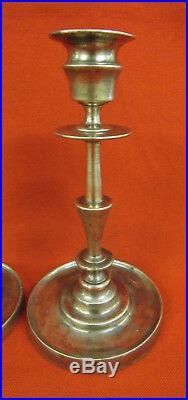 Imperial Russian Time Solid Brass Candle Candlestick Set (2pcs.). JUDIN Firm