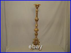 Italian Baroque Brass Candle Holder Stick Over 9k Weight 101cm 40 Tall T/light