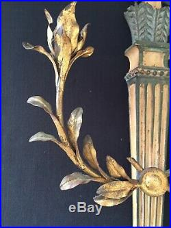 Italian Palladio Vintage Gilt Sconce Candleholder From 1963