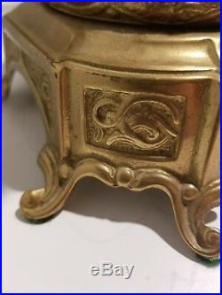 Italian Vintage Brevettato Brass/Bronze Candelabra/Candlesticks