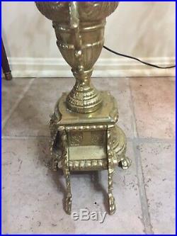 Italian Vintage Brevettato Brass/Bronze Candelabra/Candlesticks 27 Tall
