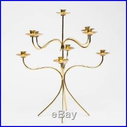 Josef Frank Candle Holder 9-Branched Svenskt Tenn Brass Swedish