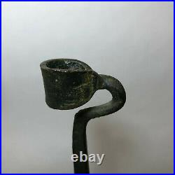 Lance Cloutier Brass Hand Forged Brutalist Candle Holders MCM Vintage