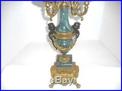 Lancini Brass & Marble Imperial Candelabra Made in Italy