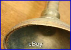 Large Antique Solid Brass Menorah Candelabra. Adjustable Judaica Candle Holder