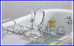 Large Bath Caddy Complete with Mirror and candle holder/PL