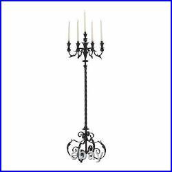 Large Floor Candelabra Old World Tuscan Scrolls Candle Holder Cyan Design 02232