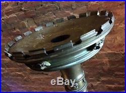 Large Weighty Antique Church / Alter Candlestick Bronze Gothic Candle Holder
