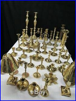 Lot 48 Brass Candle Holders Candlesticks Wedding Party Decor Vintage Mixed