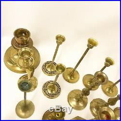 Lot 48 Solid Brass Vintage Candle Stick Holders Wedding Party Decor Candlesticks