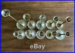 Lot of 10 Vintage Solid Brass Candle Stick Holders Wedding Party Candlesticks
