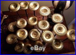 Lot of 19 Vintage Graduated Brass Candlestick Candle Holders Wedding Craft Decor