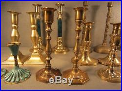 Lot of 20 (10 Pairs) Brass Candle Stick Holders Church Altar Wedding Stage