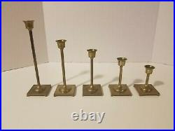 Lot of 20 Vintage Brass Candle Stick Holders for Wedding, Party, Home Decor (L1)