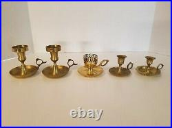 Lot of 20 Vintage Brass Candlestick Candle Holders -Wedding, Party, Decor (L2)
