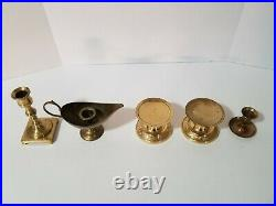 Lot of 20 Vintage Brass Candlestick Candle Holders -Wedding, Party, Home Decor