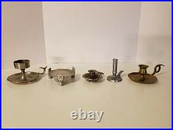 Lot of 25 Vintage Brass & Pewter Candle Holders Wedding, Party, Home Decor, Ext