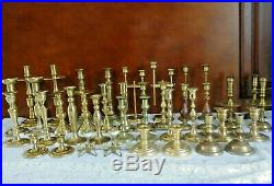 Lot of 40 20 PAIRS Solid Brass Candle Stick Holders Wedding Party Candlesticks