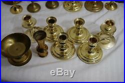 Lot of 402 Brass Candlestick Holders Wedding Decor Candle Vintage Patina