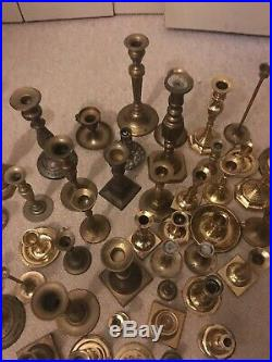 Lot of 50 Brass Candle Stick Holders Wedding Party Candlesticks Decor