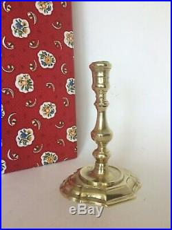Louis XV Brass Candlestick Octagonal Oval Pierre Deux French style