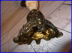 Made in Italy Marble and Brass Candelabra candle holder holds 5 candles MARKED